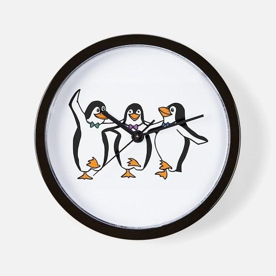 Penguins Dancing Wall Clock
