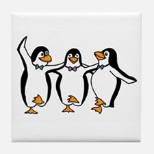 Penguins Dancing Tile Coaster