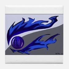 Cool Dragon Fire Tile Coaster