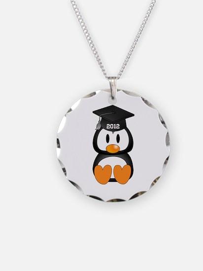 Custom Graduation Penguin Necklace Circle Charm