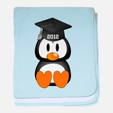 Custom Graduation Penguin baby blanket