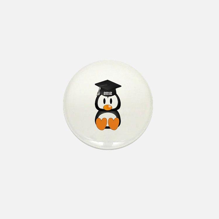Custom Graduation Penguin Mini Button