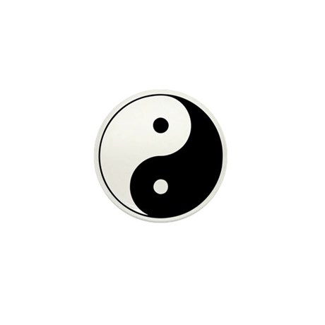 Yin Yang Symbol Mini Button (10 pack)