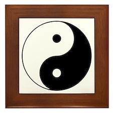 Yin Yang Symbol Framed Tile