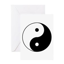 Yin Yang Symbol Greeting Card