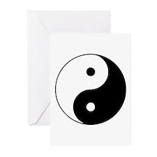 Yin Yang Symbol Greeting Cards (Pk of 20)