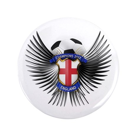 "England 2012 Soccer Champions 3.5"" Button"