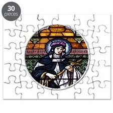 St. Rose of Lima Stained Glass Window Puzzle