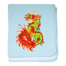 Flaming Dragon -Year Of The Dragon baby blanket