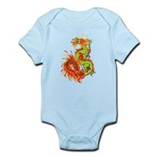 Flaming Dragon -Year Of The Dragon Infant Bodysuit