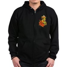 Flaming Dragon -Year Of The Dragon Zip Hoodie