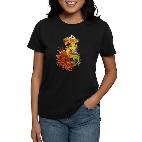 Flaming Dragon -Year Of The Dragon Women's Dark T-