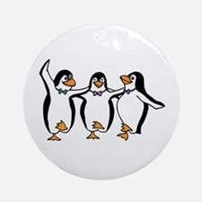Penguins Dancing Ornament (Round)