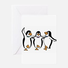 Penguins Dancing Greeting Card