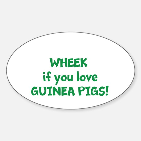 Funny Guinea pigs Sticker (Oval)