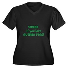 Funny Wheek Women's Plus Size V-Neck Dark T-Shirt