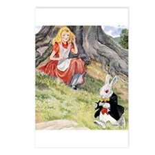 ALICE & THE WHITE RABBIT Postcards (Package of 8)
