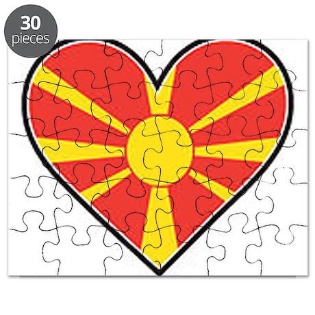 Macedonia Heart Flag Puzzle