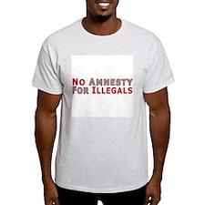No Amnesty D23 Ash Grey T-Shirt