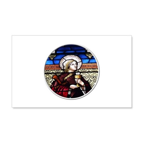 ST. BARBARA STAINED GLASS WINDOW 20x12 Wall Decal