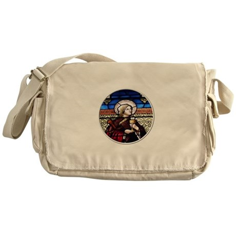 ST. BARBARA STAINED GLASS WINDOW Messenger Bag