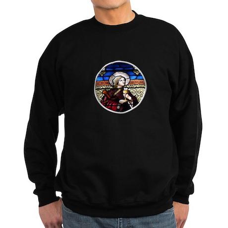 ST. BARBARA STAINED GLASS WINDOW Sweatshirt (dark)