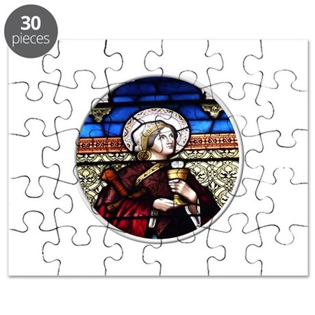ST. BARBARA STAINED GLASS WINDOW Puzzle