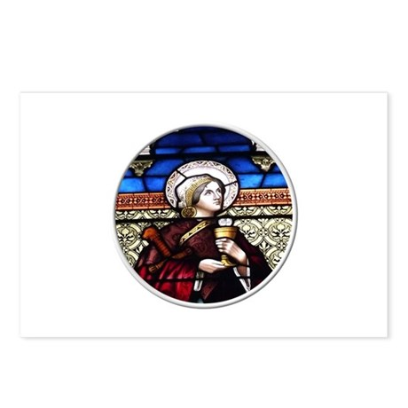 ST. BARBARA STAINED GLASS WINDOW Postcards (Packag