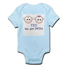 Yes! We are Twins Infant Creeper