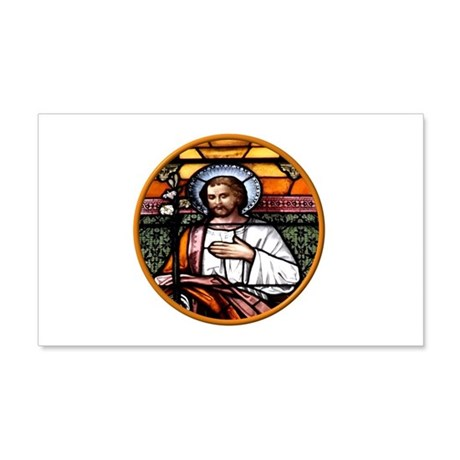 ST. JOSEPH STAINED GLASS WINDOW 20x12 Wall Decal