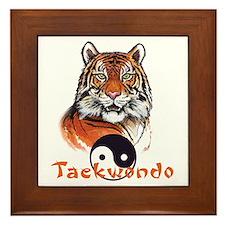 Taekwondo tiger Framed Tile