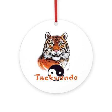 Taekwondo tiger Ornament (Round)