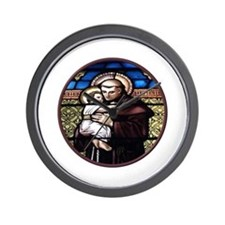 ST. ANTHONY OF PADUA STAINED GLASS WINDOW Wall Clo