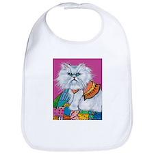 """Persian White Cat """"Morrison"""" Bib"""