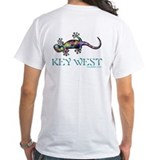 Key west Mens Classic White T-Shirts
