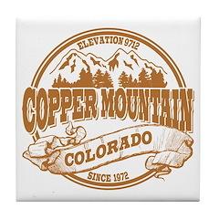 Copper Mountain Old Circle Tile Coaster
