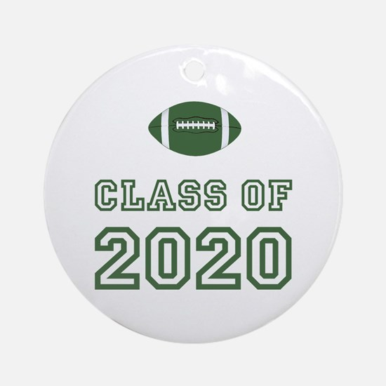 Class Of 2020 Football Ornament (Round)