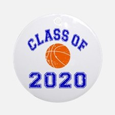 Class Of 2020 Basketball Ornament (Round)