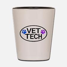 Shot Glass - Vet Tech Pawprints