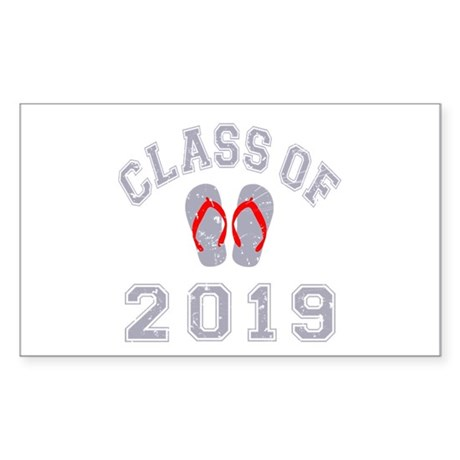 Class Of 2019 Flip Flop Sticker (Rectangle)