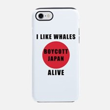 Boycott Japan - I Like Whales Iphone 7 Tough Case