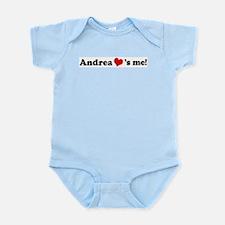 Andrea loves me Infant Creeper