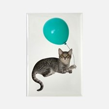 Cat with Ballon Rectangle Magnet