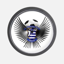 Greece 2012 Soccer Champions Wall Clock