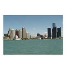 Detroit Skyline Postcards (Package of 8)