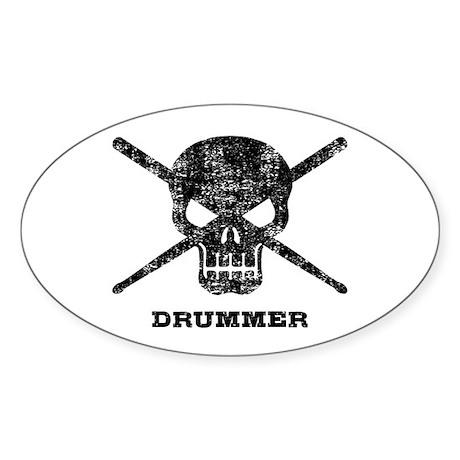 Drummer Sticker (Oval)