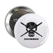"Drummer 2.25"" Button"