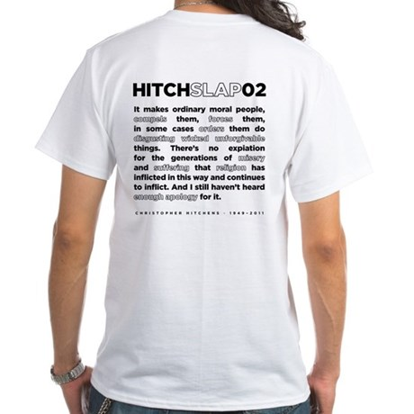Christopher Hitchens Hitchslap 02 White T-Shirt