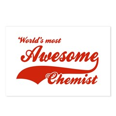 World's Most Awesome Chemist Postcards (Package of