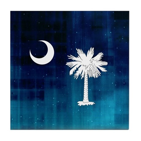South Carolina Palmetto Flag Tile Coaster